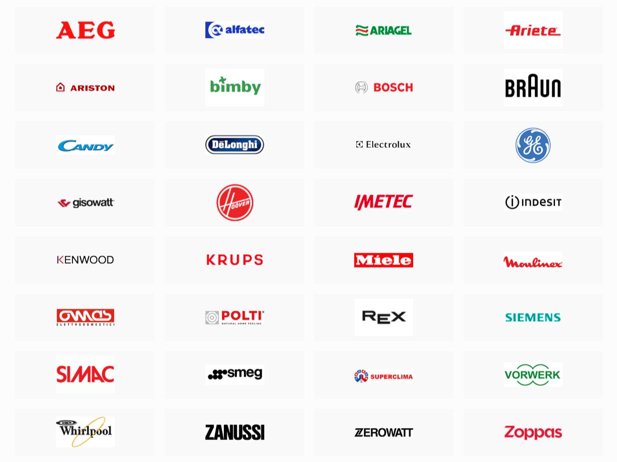 Vendita ricambi originali e non a Milano per elettrodomestici di ogni marca